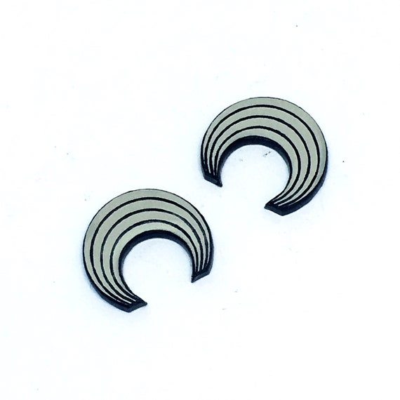 Wood & Acrylic Mini Shapes.8 Pieces. Rainbow. Mini Laser Cut Supplies