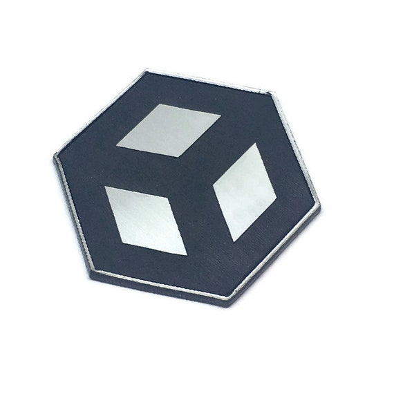 Wood & Acrylic Mini Shapes.8 Pieces.Open Cube Mini  Laser Cut Supplies