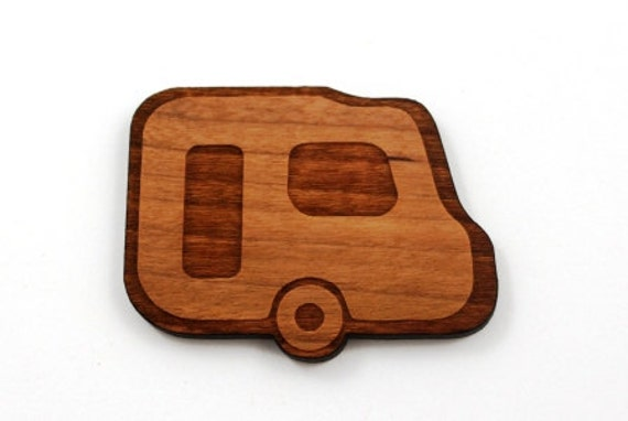 Wood And Acrylic Shapes. 1 Piece.Retro Caravan Charms. Laser Cut Wood And Acrylic