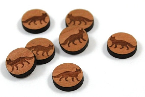 Wood & Acrylic Mini Shapes.8 Pieces.Fox  Laser Cut Supplies
