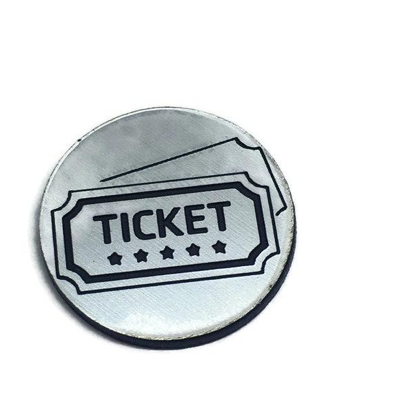 Wood & Acrylic Mini Shapes.8 Pieces.Movie Ticket Mini  Laser Cut Supplies