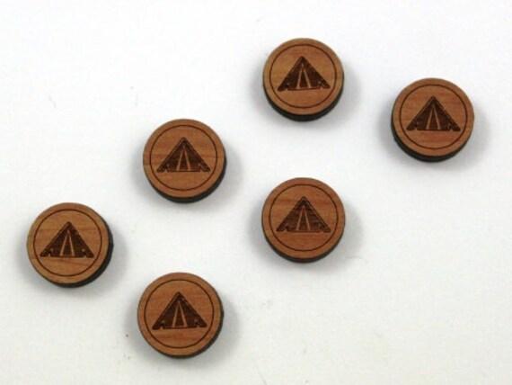 Wood & Acrylic Mini Shapes.8 Pieces.Tent  Laser Cut Supplies