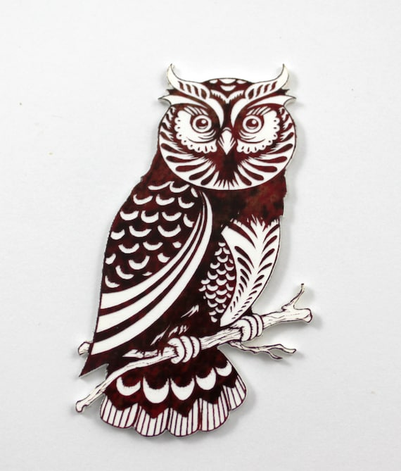 Wood And Acrylic Shapes. 1 Piece Wise Owl Charms. Laser Cut Wood And Acrylic