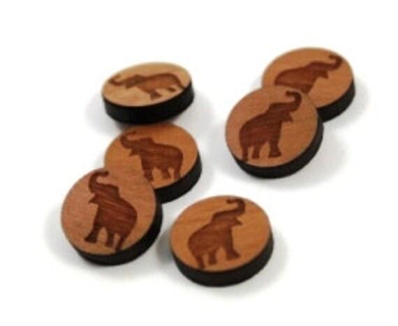 Wood & Acrylic Mini Shapes.8 Pieces.Elephant Disc  Laser Cut Supplies
