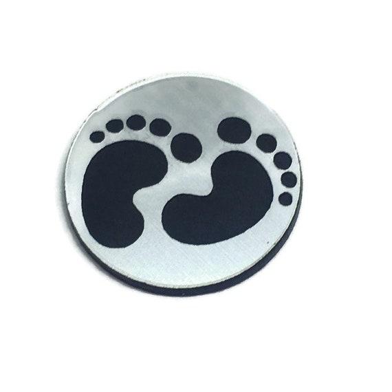 Wood & Acrylic Mini Shapes.8 Pieces.Baby Feet Mini  Laser Cut Supplies