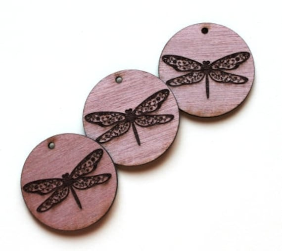 Laser Cut Supplies-1 Piece Dragon Fly Charms-Acrylic and Wood Laser Cut -Jewellery Supplies- Little Laser Lab Wood and Acrylic Products