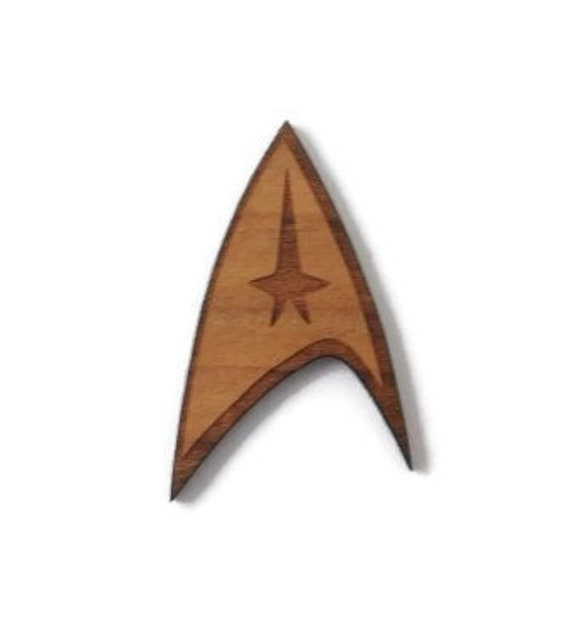 Wood And Acrylic Shapes. 1 Piece Star Trek Charms. Laser Cut Wood And Acrylic