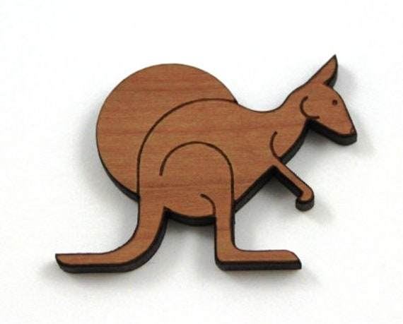 Laser Cut Supplies-1 Piece Kangaroo Charms-Acrylic and Wood Laser Cut-Jewelry Supplies-Little Laser Lab Wood and Acrylic Products