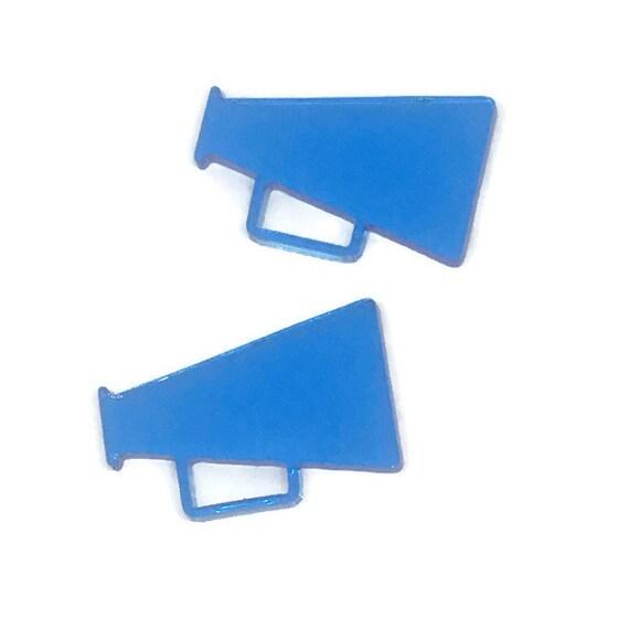 Acrylic Mini Shapes.8 Pieces. Mega Phone. Mini Laser Cut Supplies