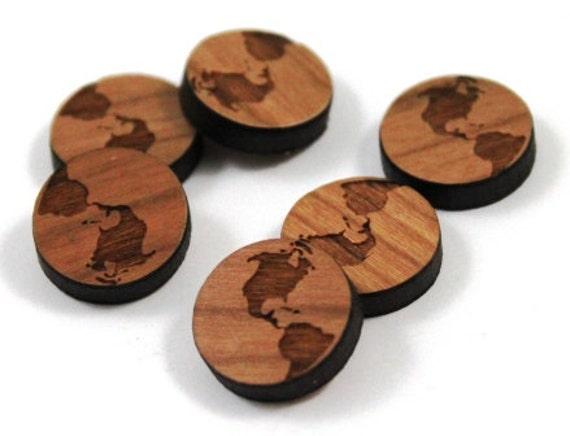 Wood & Acrylic Mini Shapes.8 Pieces.World  Laser Cut Supplies