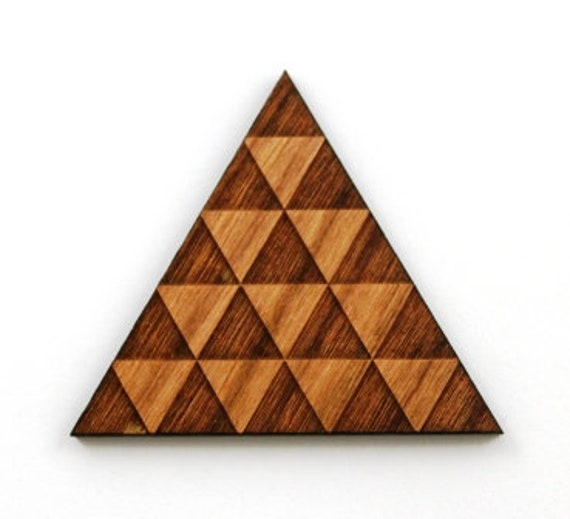 Laser Cut Supplies-1 Piece Pattern Triangle Charms-Acrylic and Wood Laser Cut-Jewelry Supplies-Little Laser Lab Wood and Acrylic Products
