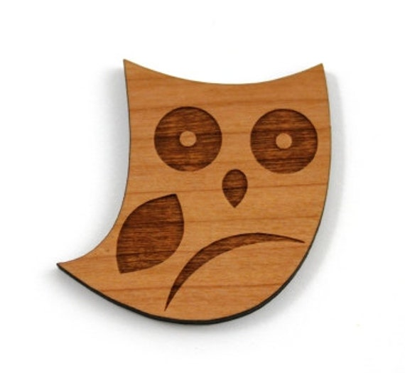 Laser Cut Supplies- 1 Piece.Woodland Owl Charms-Acrylic and Wood Laser Cut -Jewellery Supplies- Little Laser Lab Wood and Acrylic Products