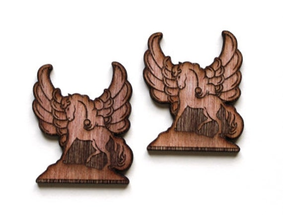 Laser Cut Supplies-1 Piece Pegasus Charms-Acrylic and Wood Laser Cut -Jewellery Supplies- Little Laser Lab Wood and Acrylic Products