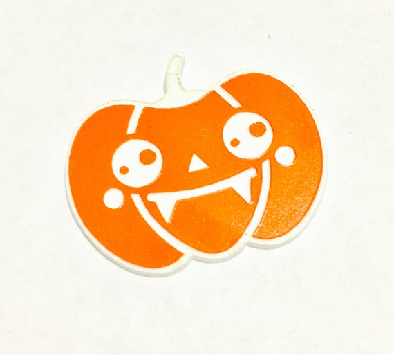 Laser Cut Supplies-1 Piece.Halloween Pumpkin Charms-Acrylic and Wood Laser Cut-Jewellery Supplies-Little Laser Lab Wood and Acrylic Products