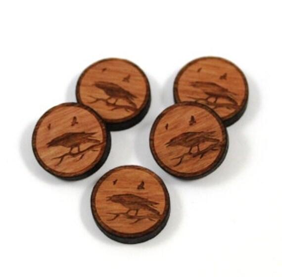 Wood & Acrylic Mini Shapes.8 Pieces.Raven  Laser Cut Supplies