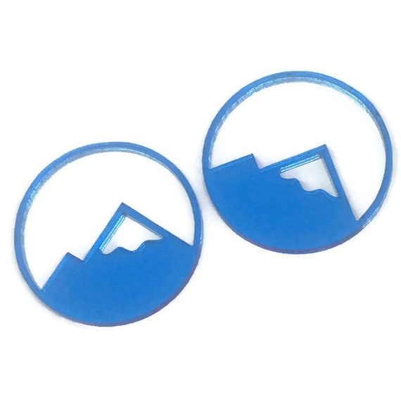 Acrylic Mini Shapes.1 Piece. Glacier Mountain. Mini Laser Cut Supplies