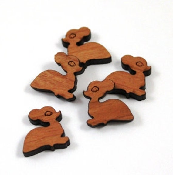 Laser Cut Supplies-8 Pieces. Fawn Charms-Acrylic and Wood Laser Cut -Jewellery Supplies- Little Laser Lab Wood and Acrylic Products