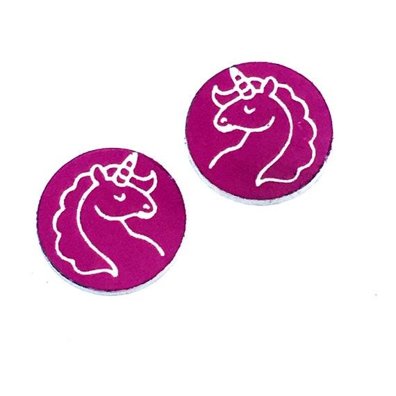 Wood & Acrylic Mini Shapes.8 Pieces. Unicorn. Mini Laser Cut Supplies