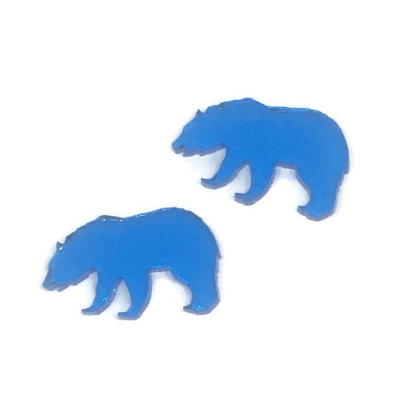 Acrylic Mini Shapes.8 Pieces. Bear. Mini Laser Cut Supplies