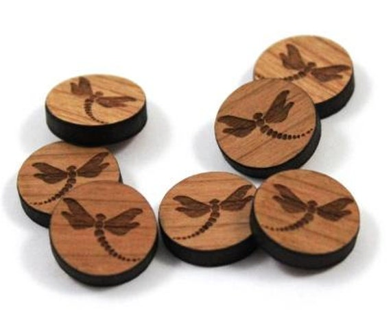 Wood & Acrylic Mini Shapes.8 Pieces.Dragon Fly  Laser Cut Supplies