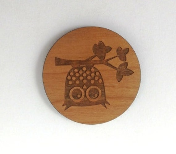 Laser Cut Supplies-1 Piece.Owl on Branch Charms-Acrylic and Wood Laser Cut -Jewellery Supplies- Little Laser Lab Wood and Acrylic Products