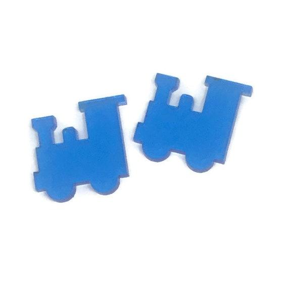 Acrylic Mini Shapes.8 Pieces. Train. Mini Laser Cut Supplies