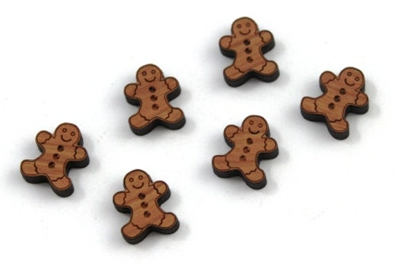Wood & Acrylic Mini Shapes.8 Pieces.Gingerbread Men  Laser Cut Supplies