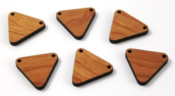 Wood And Acrylic Shapes. 15 Piece.Bunting Charms. Laser Cut Wood And Acrylic