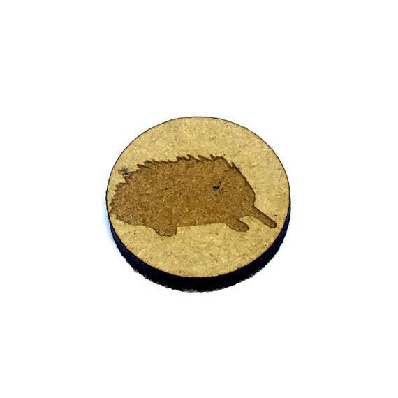 Wood & Acrylic Mini Shapes.8 Pieces. Australian Echidna Mini  Laser Cut Supplies
