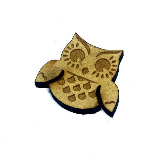 Wood & Acrylic Mini Shapes.8 Pieces.  Sweet Owl Mini  Laser Cut Supplies