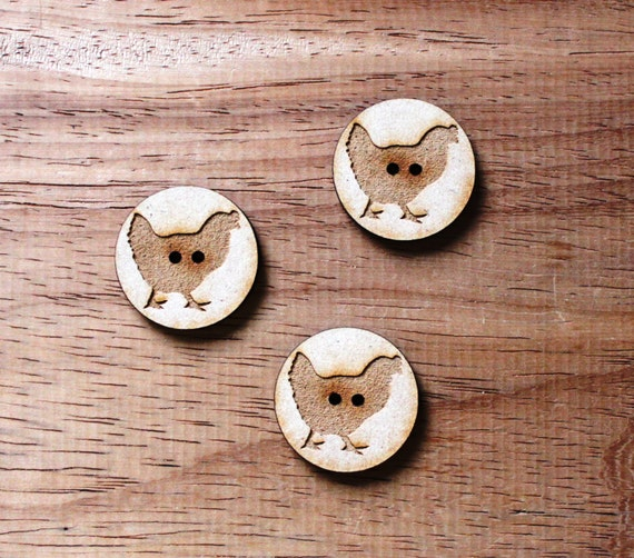 8 pieces.Hen Farmyard.Round Buttons,3 cm Buttons -Acrylic and Wood Laser Cut-Jewelry Supplies-Little Laser Lab Wood and Acrylic Products