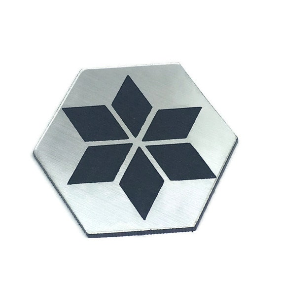 Wood & Acrylic Mini Shapes.8 Pieces. Cube Snow Flake Mini  Laser Cut Supplies