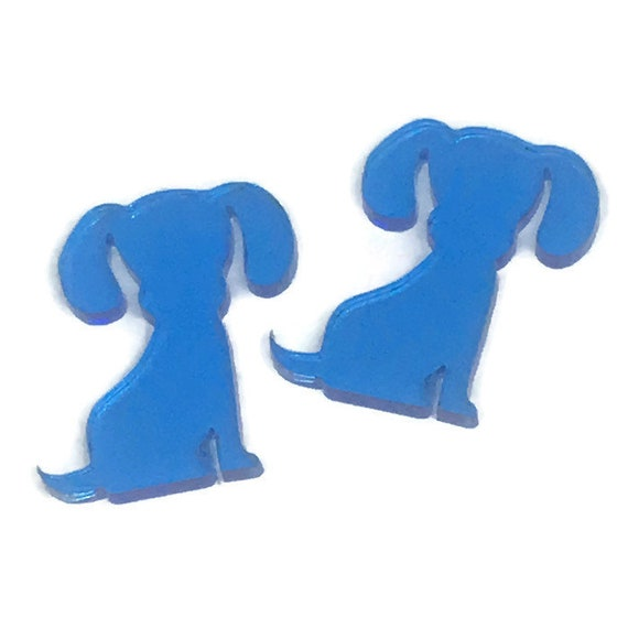 Acrylic Mini Shapes.8 Pieces. Cute Puppy. Mini Laser Cut Supplies