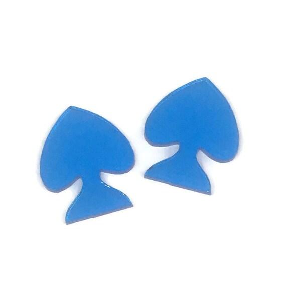 Acrylic Mini Shapes.8 Pieces. Spade. Mini Laser Cut Supplies