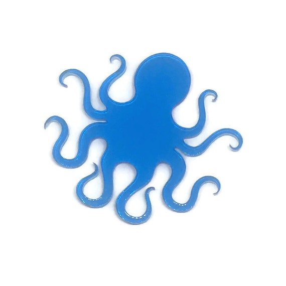 Acrylic Mini Shapes.1 Piece. Octopus. Mini Laser Cut Supplies
