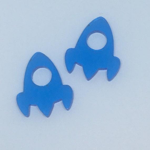 Acrylic Mini Shapes.8 Pieces. Space Ship Open Window. Mini Laser Cut Supplies