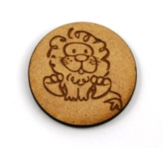 Laser Cut Supplies-1 Piece Cute Lion Charms-Acrylic and Wood Laser Cut-Jewelry Supplies-Little Laser Lab Wood and Acrylic Products