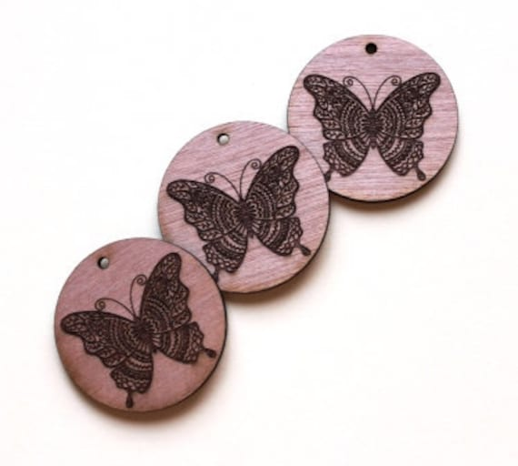Laser Cut Supplies-1 Piece Butterfly Charms-Acrylic and Wood Laser Cut -Jewellery Supplies- Little Laser Lab Wood and Acrylic Products