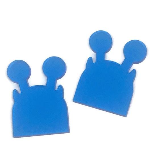 Acrylic Mini Shapes.8 Pieces. Little Monster. Mini Laser Cut Supplies