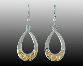 Style 145 Sterling Silver earrings with 22Kt Gold Inlay