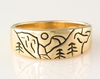 Yosemite Ring in 14k Yellow Gold