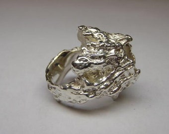 Barnacle Ring in Sterling Silver Size Medium