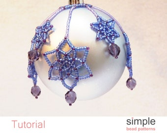 Assorted 3 Ornament Pack Set 2 Hope Ornament Bead Pack with Beads 3 Ornaments /& Printed Tutorial by Silke Steuernagel Included
