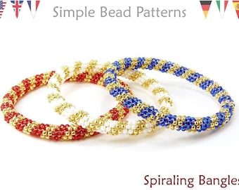 Beading Tutorial Stained Glass Window Bracelet and 110/'s 80/'s PDF Beading pattern with Cube Beads Right Angle Weave Bracelet Pattern
