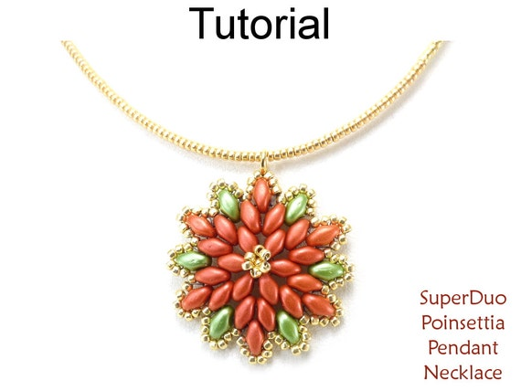 Holiday Beading Pattern Super Duo Beaded Necklace Tutorial
