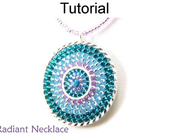 Jewelry Making Beading Pattern - Necklace Tutorial - Brick Stitch - Seed Beads - Simple Bead Patterns - Radiant Necklace #175
