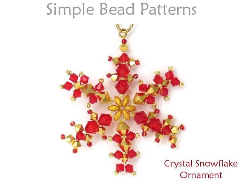 d3754762c Crystal Snowflake Ornament Wire Working Beading Tutorial | Etsy