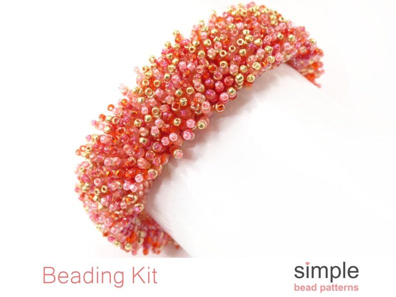 Beadweaving Kits Bead Kits for Bracelets Beaded Bracelet Kit Bracelet Making Kit K-00860 Jewelry Making Kit for Adults Jewelry Kit