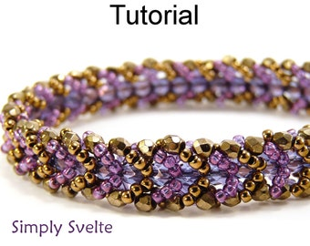 Beaded Bracelet Patterns - Flat Spiral Stitch Jewelry Making - Easy Beginner Instructions - Simple Bead Patterns - Simply Svelte #109