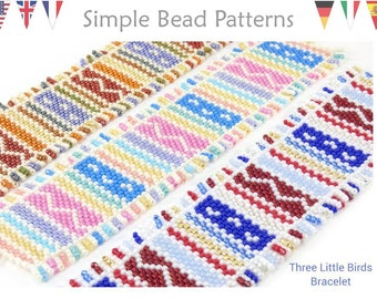 Bracelet Beading Patterns - Beaded Fringe Bracelet - Odd Count Peyote Stitch - Easy Project for Beginners - Three Little Birds Bracelet #456